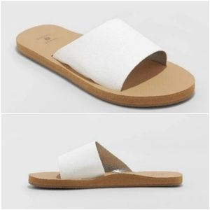 Shade & Shore Annalise Slide Sandals Sz 6 NEW